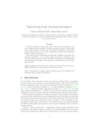 Solar forcing of the terrestrial atmosphere - Laboratoire de physique ...