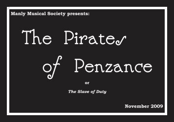 Manly Musical Society presents: