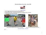 Marathon Maniacs News Letter – June 2004