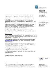 Afgørelse om VVM-pligt for udvidelse af Søby Havn, Ærø VVM-pligt ...