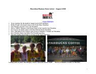 August 2008 - Marathon Maniacs