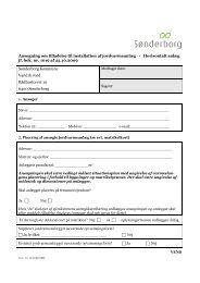 Ansøgning om etablering af jordvarmeanlæg - Sønderborg Kommune