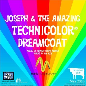 Dreamcoat Program2 - Manly Musical Society