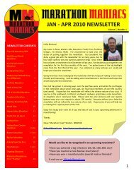 jan - apr 2010 newsletter jan - apr 2010 newsletter - Marathon ...