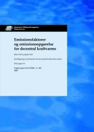 Emissionsfaktorer og emissionsopgørelse for decentral kraftvarme