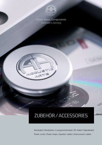 ZUBEHÖR ACCESSORIES - Accustic Arts