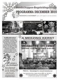programma december 2010 - Boodschappen Begeleidingsdienst