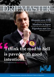 I think the road to hell is paved with good intentions. - Bandwerkplus.nl