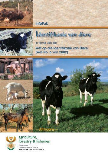 Identifikasie van diere - Department of Agriculture, Forestry and ...