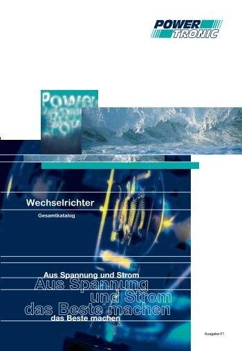 Hauptkatalog / Gesamtkatalog Wechselrichter - Powertronic.de