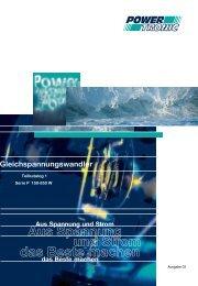 Teilkatalog1 Serie P 150 - 850W - Powertronic.de