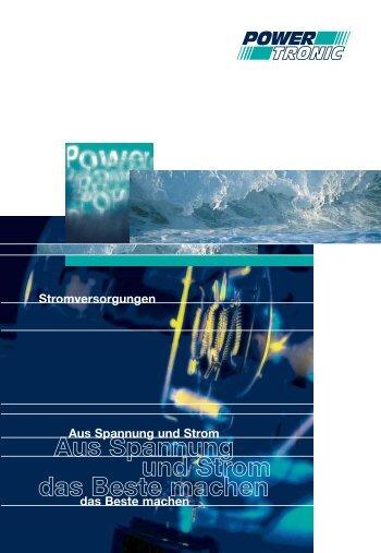 Aus Spannung und Strom das Beste machen - Powertronic.de