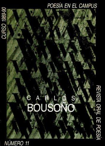 Poesía en el Campus, 11. Carlos Bousoño