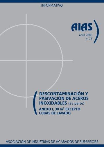(DESCONTAMINACIÓN Y PASIVACIÓN DE ACEROS ... - AIAS
