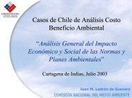 Casos de Chile de Análisis Costo Beneficio Ambiental