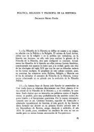 POLÍTICA, RELIGIÓN Y FILOSOFÍA DE LA HISTORIA 1.—La ...
