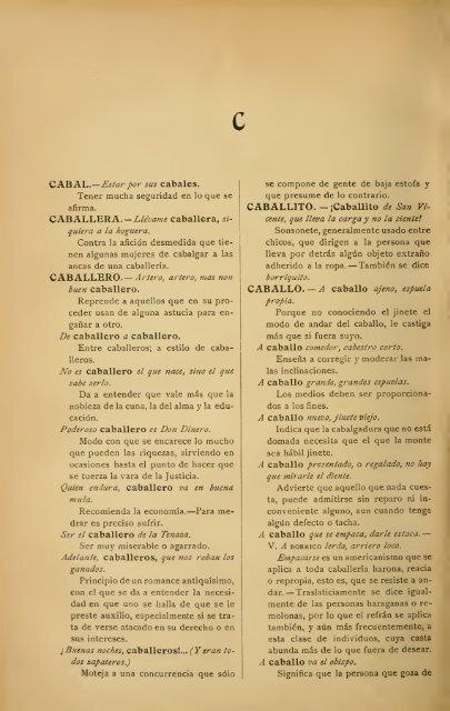 letra c - diccionario de refranes - Español Sin Fronteras