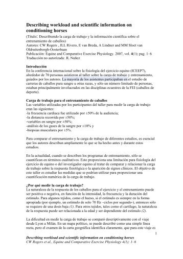 Curso de nutrición y entrenamiento en comp. de Salto y Endurance