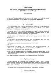 Verordnung über das frei Umherlaufen von ... - Postbauer-Heng