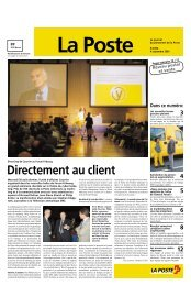 Directement au client - La Poste Suisse