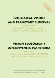 EcOLOGIcAL VIsION AND pLANETARY sURVIVAL VIsION ...