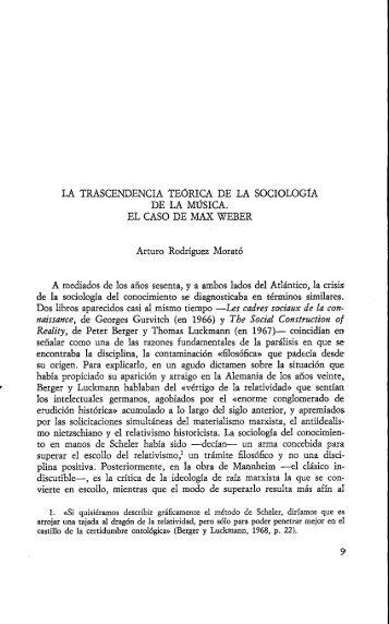 naissance, de Georges Gurvitch (en 1966) y The Social ... - Raco