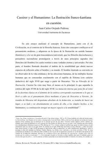 Cassirer y el Humanismo - EIKASIA - Revista de Filosofía