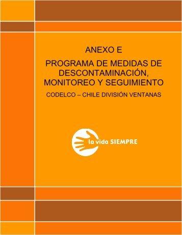 Anexo E: Programa Medidas Descontaminación, Monitoreo y ...