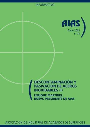 (descontaminación y pasivación de aceros inoxidables (i) - AIAS