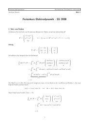 Lösung zum Übungsblatt - Physik-Department TU München - TUM
