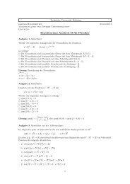 Repetitorium Analysis II für Physiker - Physik-Department TU München