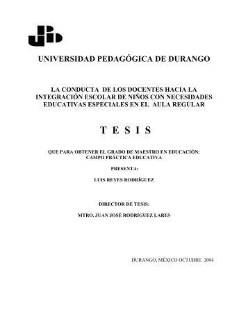 UNIVERSIDAD PEDAGGICA - Universidad Pedagógica de Durango