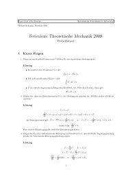 Lösung zur Probeklausur - Physik-Department TU München