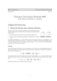 Lösung zum Übungsblatt - Physik-Department TU München
