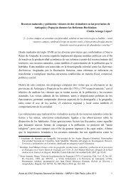 Recursos naturales y población - XXVI Simpósio Nacional de História