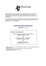 PartyCash-Einführungsangebot nur € 70,- inkl. MwSt - pos.IT