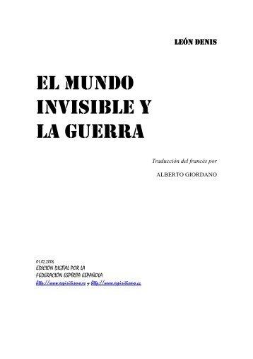 EL MUNDO INVISIBLE Y LA GUERRA - O Consolador