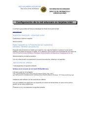 Configuración de la red eduroam en tarjetas Intel - Universidad de ...