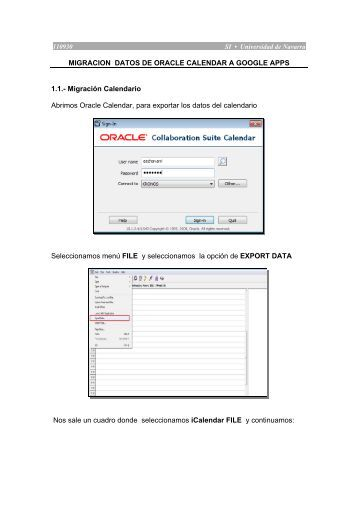 MIGRACION DATOS DE ORACLE CALENDAR A GOOGLE APPS ...