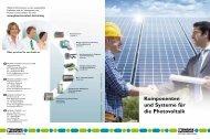 Komponenten und Systeme für die Photovoltaik - Phoenix Contact