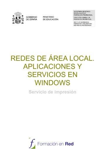 redes de área local. aplicaciones y servicios en windows