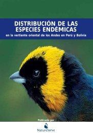 DISTRIBUCIÓN DE LAS ESPECIES ENDÉMICAS - NatureServe