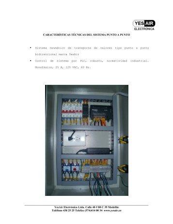 Caracteristicas Tecnicas del Sistema Semiautomatico - YesAir ...