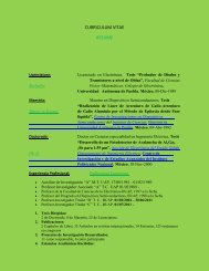 CURRICULUM VITAE RESUME - Posgrado en Dispositivos ...