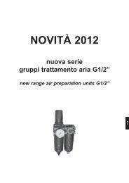 nuova serie gruppi FRL G1/2 / new series air ... - AZ Pneumatica srl