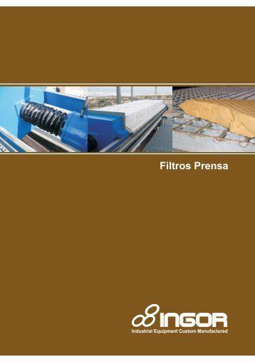 Catálogo Filtros Prensa Semiautomáticos y ... - Interempresas