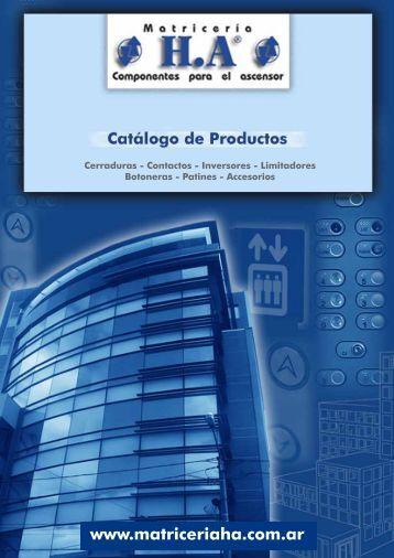 Descargue Aquí Catálogo Online - Matriceria H.A