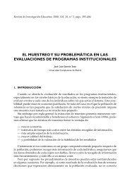 el muestreo y su problemática en las evaluaciones de programas ...