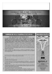 Acupuntura, Anestesiologia, Cirurgia Geral, Clínica ... - CESPE / UnB