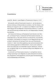 Bereits 4. neues Mitglied im Photoindustrie-Verband eV 2011 Mit ...